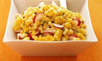 Салат из кукурузы и редиса
