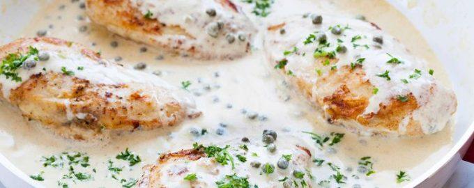 Куриные грудки в сливочно-горчичном соусе