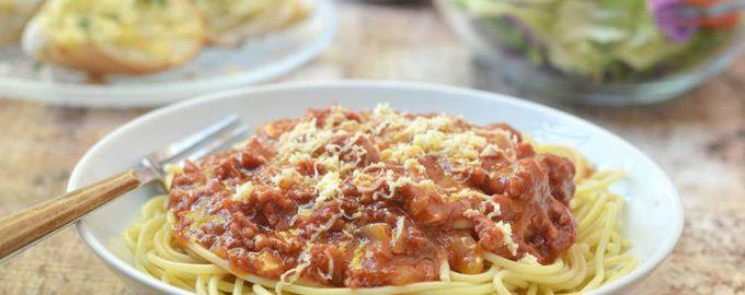 Паста с говядиной в томатном соусе