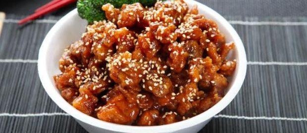 рецепт курицы с кунжутом