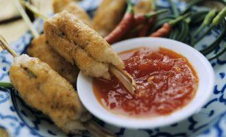 Рыбное филе на шпажках по-тайски